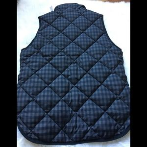 J. Crew Jackets & Coats - J. Crew Factory Plaid Quilted Puffer Vest Small